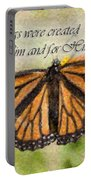 Butterfly Scripture Portable Battery Charger