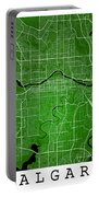 Calgary Street Map - Calgary Canada Road Map Art On Colored Back Portable Battery Charger