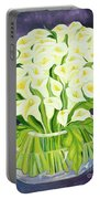 Calla Lilies Portable Battery Charger by Laila Shawa