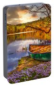 Canoe At The Lake Portable Battery Charger