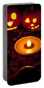 Carved Pumpkins With Pumpkin Pie Portable Battery Charger