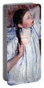 Cassatt's Girl Arranging Her Hair Portable Battery Charger