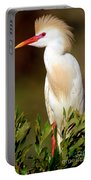 Cattle Egret Adult In Breeding Plumage Portable Battery Charger