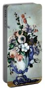 Cezanne's Flowers In A Rococo Vase Portable Battery Charger
