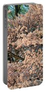 Cherry Blossoms In Pink And Brown Portable Battery Charger