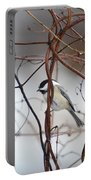 Chickadee On Woodvine Portable Battery Charger
