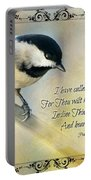 Chickadee With Verse Portable Battery Charger