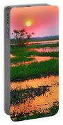 Chobe River Sunset Portable Battery Charger