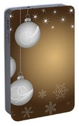 Christmas Background Portable Battery Charger