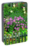 Close-up Of Flowers, Muren, Switzerland Portable Battery Charger