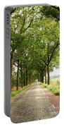 Cobblestone Country Road Portable Battery Charger by Carol Groenen