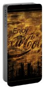 Coca Cola Wooden Sign Portable Battery Charger