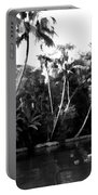 Coconut Trees And Other Plants In A Creek Portable Battery Charger