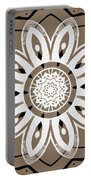Coffee Flowers 8 Olive Ornate Medallion Portable Battery Charger