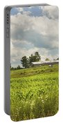 Corn Growing In Maine Farm Field Portable Battery Charger