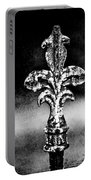 Court Jester - Bw Texture Portable Battery Charger