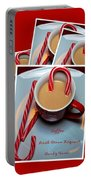 Cup Of Christmas Cheer - Candy Cane - Candy - Irish Cream Liquor Portable Battery Charger by Barbara Griffin
