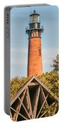 Currituck Beach Lighthouse On The Outer Banks Of North Carolina Portable Battery Charger