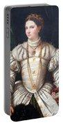 Da Brescia's Portrait Of A Lady In White Portable Battery Charger