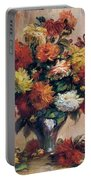 Dahlias Portable Battery Charger by Pierre-Auguste Renoir