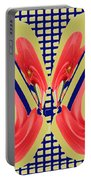 Dancing Tulip Red Exotic Flower Petal Based Wave Pattern  Created By Navinjoshi Reiki Healing Master Portable Battery Charger