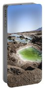 Dead Sea Sinkholes  Portable Battery Charger by Eyal Bartov