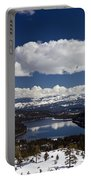 Donner Lake Donner Pass With Snow Portable Battery Charger