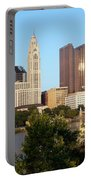 Downtown Skyline Of Columbus Portable Battery Charger