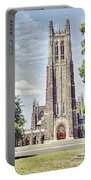 Duke Chapel In Spring Portable Battery Charger
