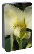 Dwarf Canna Lily Named Ermine Portable Battery Charger