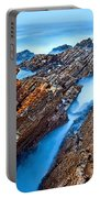 Eternal Tides - The Strange Jagged Rocks And Cliffs Of Montana De Oro State Park In California Portable Battery Charger