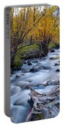 Fall At Big Pine Creek Portable Battery Charger by Cat Connor