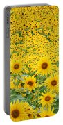Field Of Sunflowers Helianthus Sp Portable Battery Charger