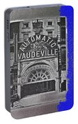 Film Homage Automatic 1 Cent Vaudeville Peep Show Arcade C.1890's New York City Collage 2013 Portable Battery Charger