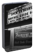 Film Noir Farewell My Lovely 1975 Brothel Guide Virginia St. Bookstore Reno Nevada 1979-2008 Portable Battery Charger