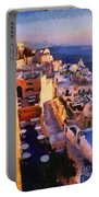 Fira City During Sunset Portable Battery Charger