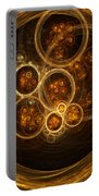 Fractal Flames Portable Battery Charger