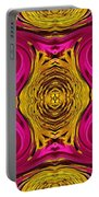 Fuchsia Sensation Abstract Portable Battery Charger