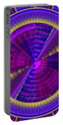Futuristic Tech Disc Fractal Flame Portable Battery Charger
