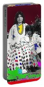 Geronimo's Wife Ta-ayz-slath And Child Unknown Date Collage 2012 Portable Battery Charger