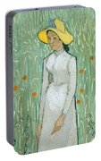 Girl In White Portable Battery Charger