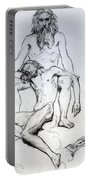 God The Father And God The Son Portable Battery Charger by Henri Lehmann