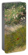 Grass And Butterflies Portable Battery Charger