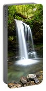 Grotto Falls Portable Battery Charger by Frozen in Time Fine Art Photography