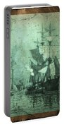 Grungy Historic Seaport Schooner Portable Battery Charger
