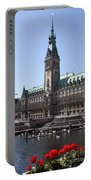 Hamburg - City Hall With Fleet - Germany Portable Battery Charger