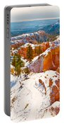 High Angle View Of Rock Formations Portable Battery Charger