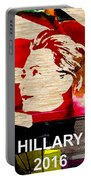 Hillary Clinton 2016 Portable Battery Charger by Marvin Blaine