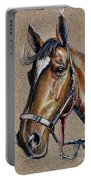 Horse Face - Drawing  Portable Battery Charger