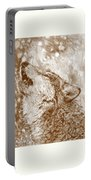 Howling Gray Wolf Portable Battery Charger